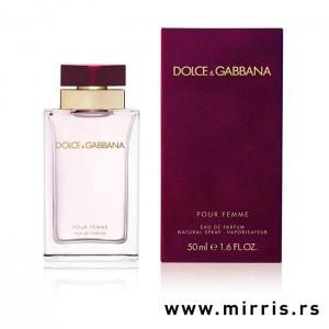 Originalna bočica mirisa Dolce & Gabbana Pour Femme i ljubičasta kutija