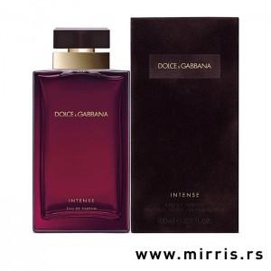 Ljubičasta boca parfema Dolce & Gabbana Pour Femme Intense i originalna kutija
