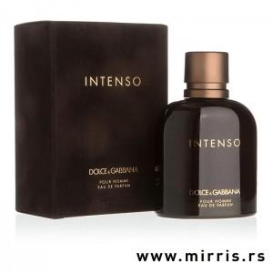 Braon kutija i boca originalnog parfema Dolce & Gabbana Pour Homme Intenso