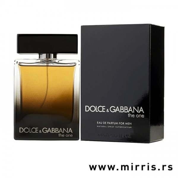 Boca parfema Dolce & Gabbana The One For Men i kutija crne boje
