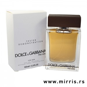 Flašica testera Dolce & Gabbana The One For Men i bela kutija