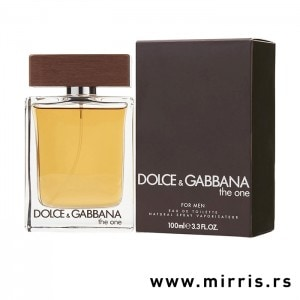 Bočica parfema Dolce & Gabbana The One For Men pored originalne kutije