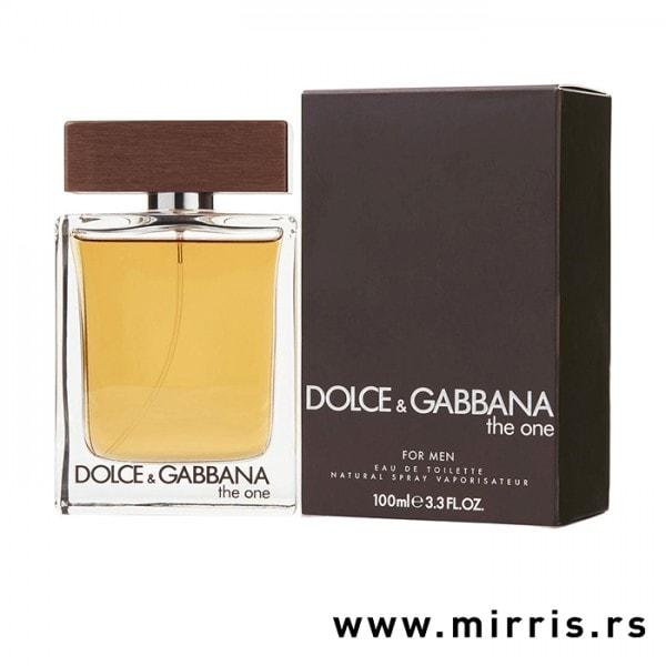 Bočica parfema Dolce & Gabbana The One For Men pored originalne kutije