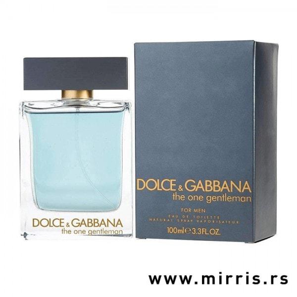 Bočica originalnog parfema Dolce & Gabbana The One Gentleman i kutija plave boje