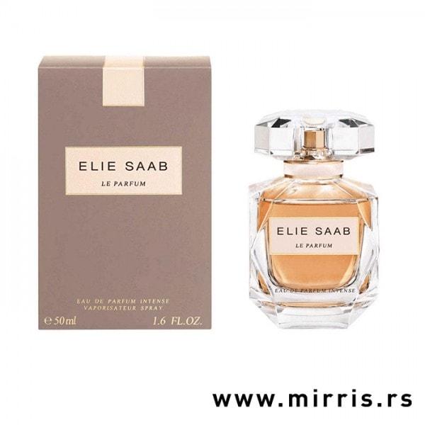 Boca parfema Elie Saab Le Parfum Intense i njegova originalna kutija