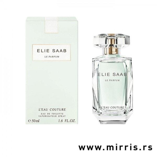Bočica parfema Elie Saab L'eau Couture pored originalne kutije