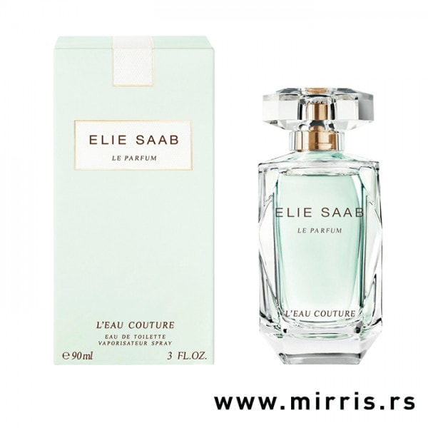 Boca originalnog parfema Elie Saab L'eau Couture pored kutije