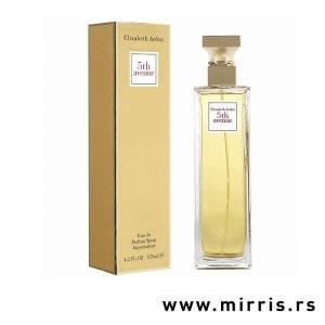 Originalna flašica parfema Elizabeth Arden 5th Avenue i kutija zlatne boje
