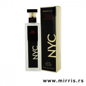 Bočica originalnog parfema Elizabeth Arden 5th Avenue NYC i crna kutija
