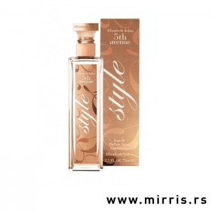 Bočica parfema Elizabeth Arden 5th Avenue Style i njegova kutija