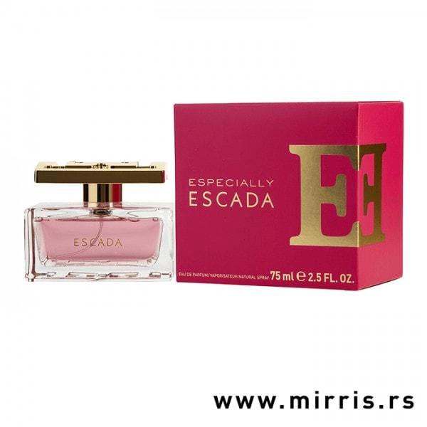Bočica originalnog mirisa Escada Especially i kutija crvene boje