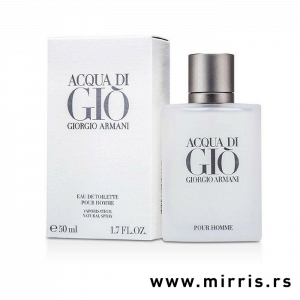 Boca parfema Giorgio Armani Acqua Di Gio pored originalne kutije