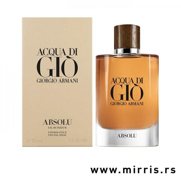 Boca parfema Giorgio Armani Acqua Di Gio Absolu pored originalne kutije