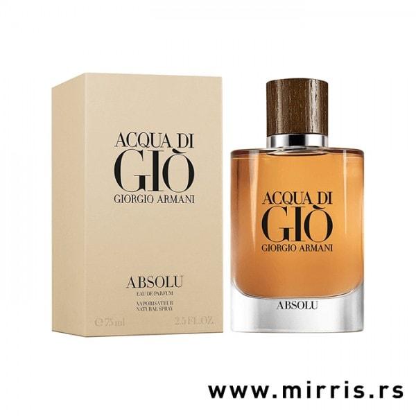 Originalna boca parfema Giorgio Armani Acqua Di Gio Absolu i kutija krem boje