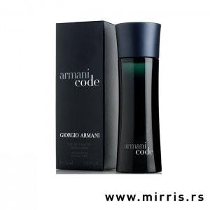 Crna kutija i bočica parfema Giorgio Armani Code