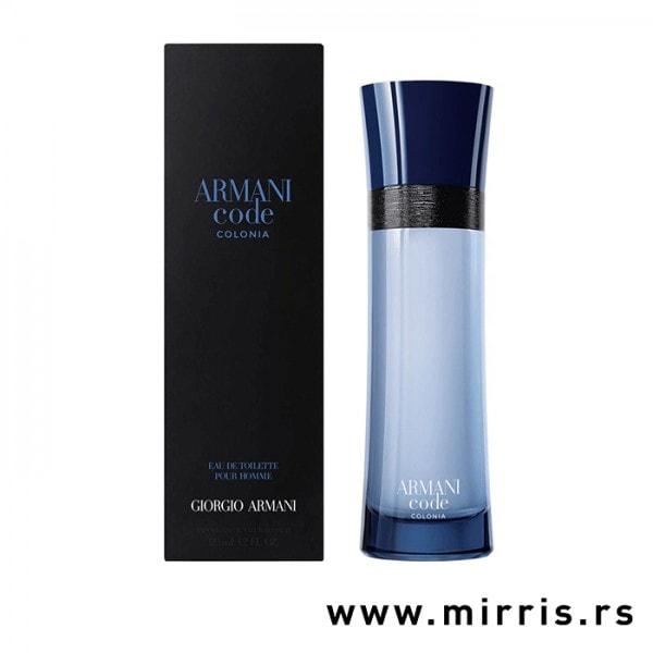 Plava bočica originalnog parfema Giorgio Armani Code Colonia i kutija
