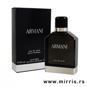Crna kutija i boca originalnog parfema Giorgio Armani Eau De Nuit