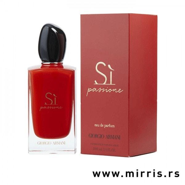 Bočica originalnog parfema Giorgio Armani Si Passione i crvena kutija
