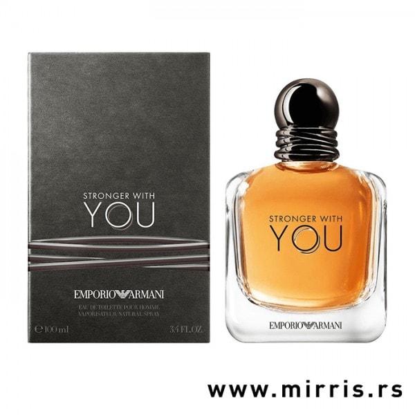 Boca originalnog parfema Giorgio Armani Stronger With You i kutija sive boje