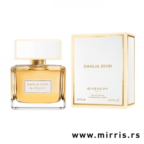Bočica originalnog mirisa Givenchy Dahlia Divin i bela kutija