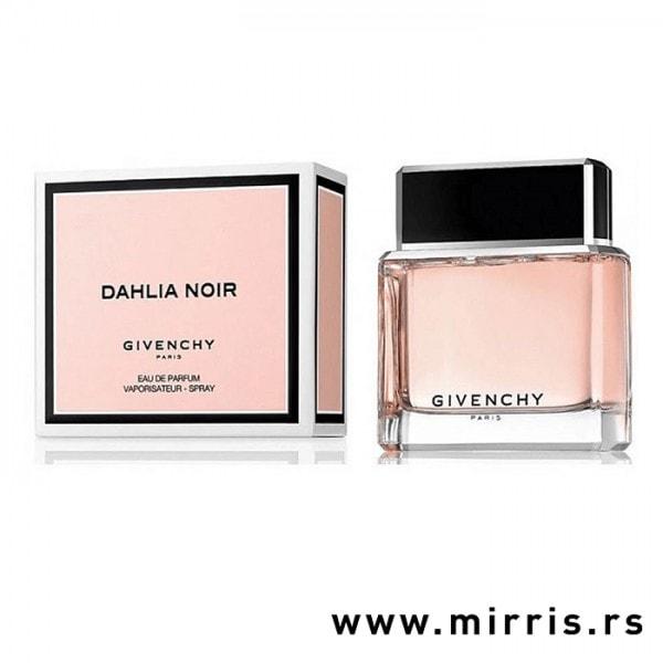 Bočica originalnog mirisa Givenchy Dahlia Noir i kutija roze boje