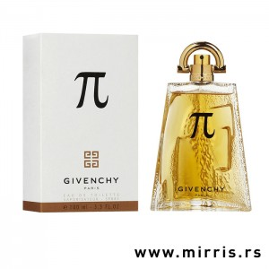 Flašica originalnog parfema Givenchy Pi pored bele kutije