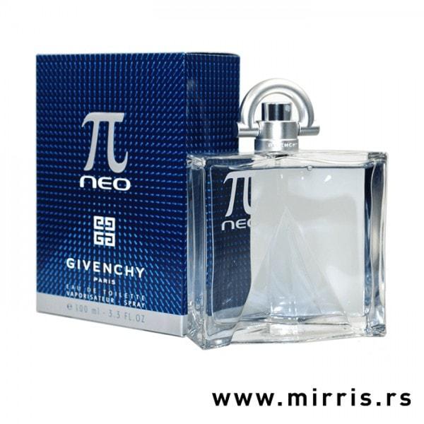 Boca originalnog parfema Givenchy Pi Neo i plava kutija