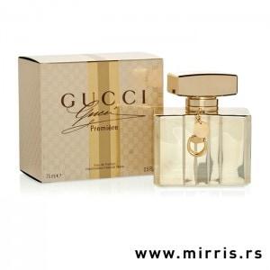Bočica parfema Gucci Premiere pored originalne kutije