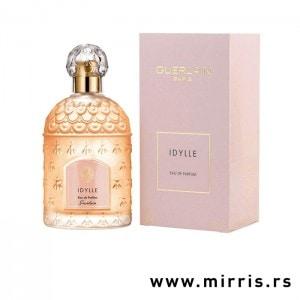 Boca originalnog parfema Guerlain Idylle i kutije roze boje
