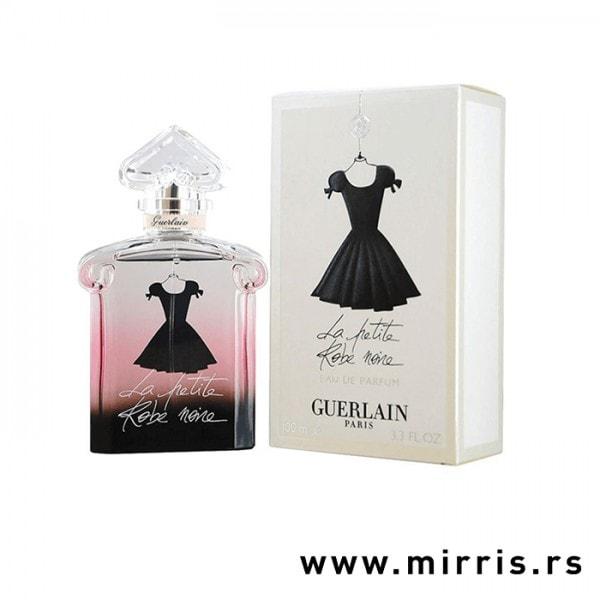 Boca originalnog parfema Guerlain La Petite Robe Noire i njegova kutija