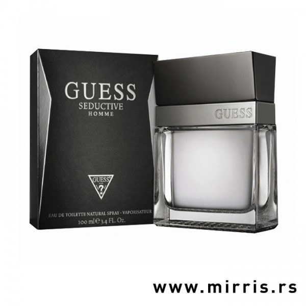 Boca originalnog parfema Guess Seductive Homme pored crne kutije