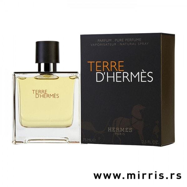 Bočica originalnog parfema Hermes Terre d´Hermes i kutija sive boje