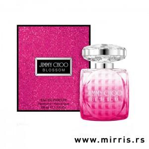Bočica originalnog parfema Jimmy Choo Blossom i ljubičasta kutija