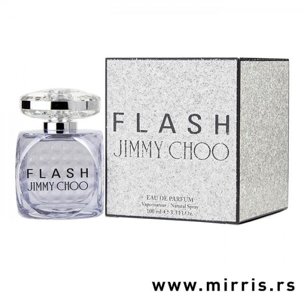 Plava flašica mirisa Jimmy Choo Flash i originalna kutija