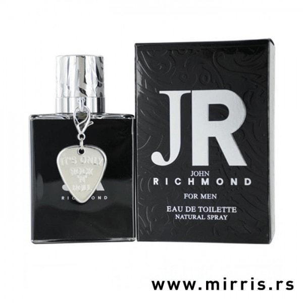 Boca parfema John Richmond For Men pored crne kutije