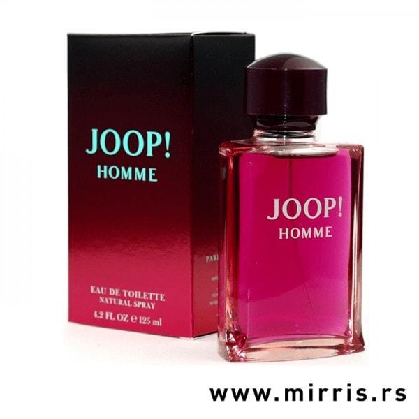 Ljubičasta kutija i bočica originalnog parfema Joop! Homme Joop!