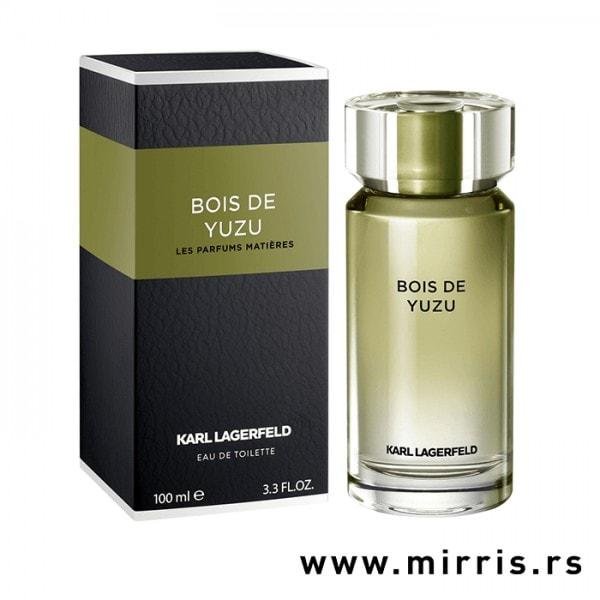 Boca parfema Karl Lagerfeld Bois De Yuzu pored originalne kutije