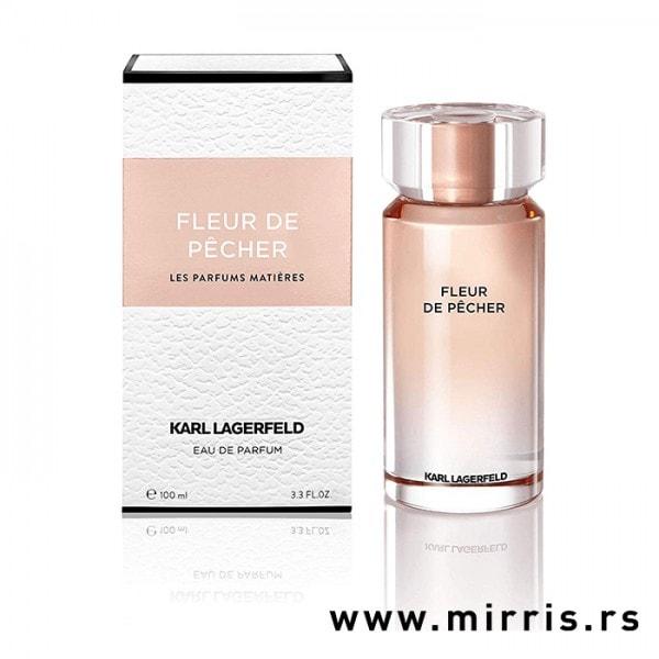 Boca originalnog parfema Karl Lagerfeld Fleur De Pecher pored kutije