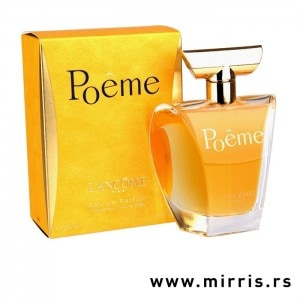 Bočica originalnog parfema Lancome Poeme i žuta kutija