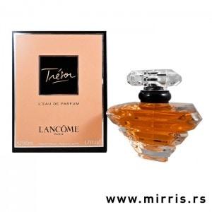 Boca parfema Lancome Tresor pored originalne kutije