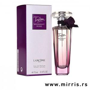 Boca parfema Lancome Tresor Midnight Rose ljubičaste boje i njegova kutija