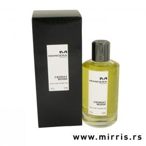 Crna kutija i boca parfema Mancera Cedrat Boise