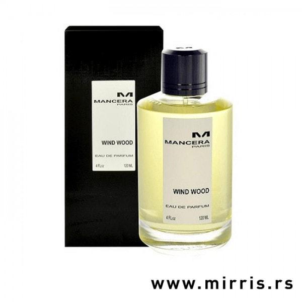Crna kutija i boca parfema Mancera Wind Wood