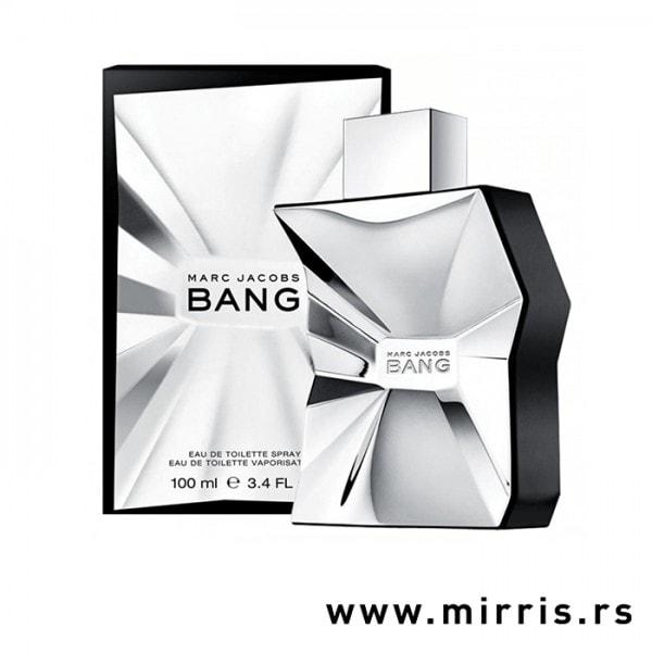 Siva kutija i boca parfema Marc Jacobs Bang
