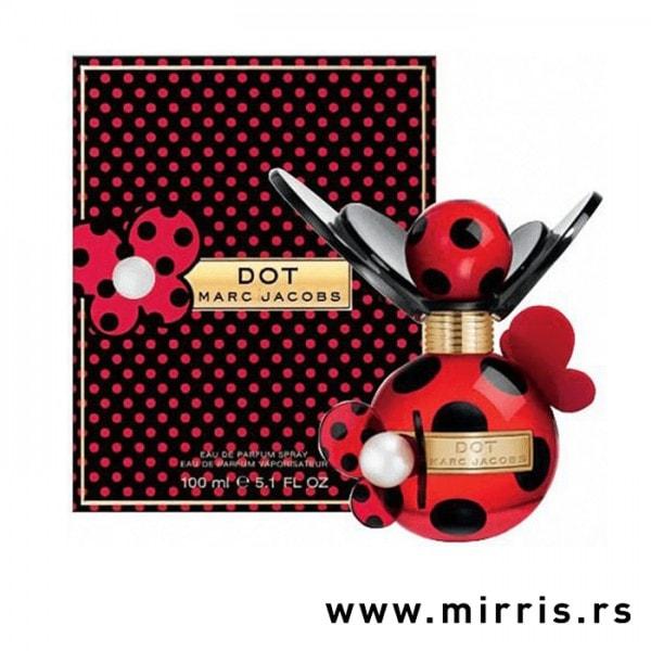 Bočica parfema Marc Jacobs Dot pored kutije