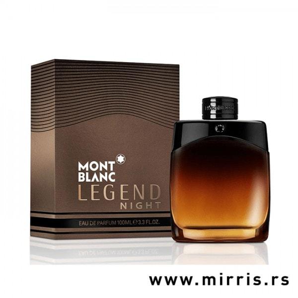 Boca parfema Montblanc Legend Night pored originalne kutije