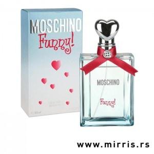 Boca parfema Moschino Funny! i svetlo plava kutija