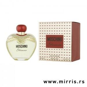 Boca parfema Moschino Glamour pored originalne kutije