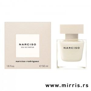 Ljubičasta bočica parfema Narciso Rodriguez Narciso i originalna kutija