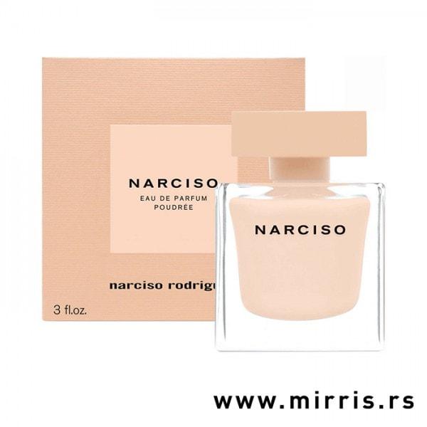 Roze boca parfema Narciso Rodriguez Narciso Poudree i roze kutija